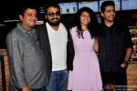 Harshavardhan Kulkarni, Anurag Kashyap, Veera Saxena and Gulshan Devaiah during the Hunterrr movie's Grand music launch