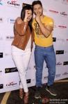 Yami Gautam and Varun Dhawan during the promotion of movie 'Badlapur' in New Delhi