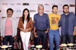 Nawazuddin Siddiqui, Yami Gautam, Sriram Raghavan, Varun Dhawan and Dinesh Vijan during the promotion of movie 'Badlapur' in New Delhi
