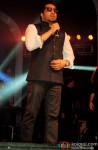 Mika Singh performing during the Hitesh Rahlan and Tulsi Kumar's Sangeet Ceremony