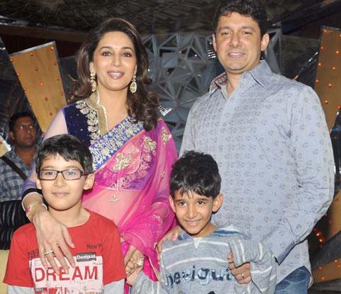 Madhuri Dixit Nene And Dr. Shriram Nene Kids - Aarin and Ryan