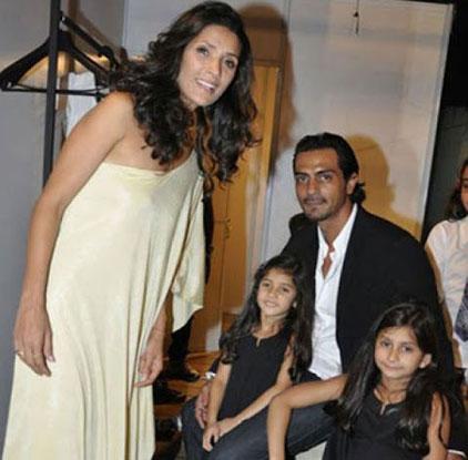 Mehr Jesia Rampal And Arjun Rampal Kids - Mahika and Maira