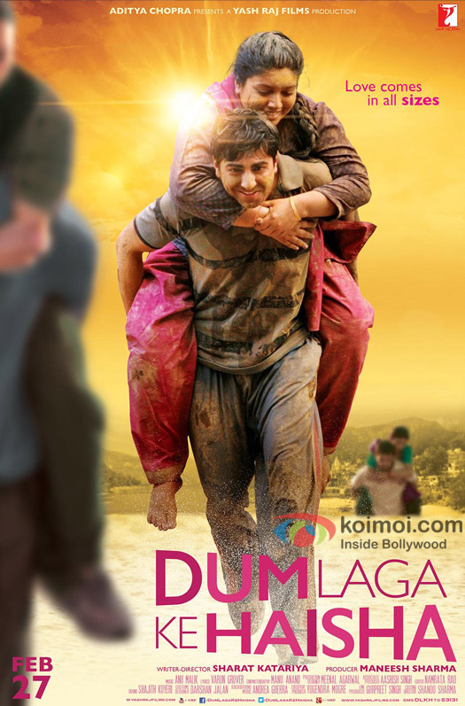 Bhumi Pednekar and Ayushmann Khurrana in a 'Dum Laga Ke Haisha' poster