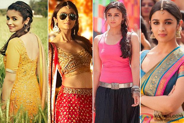 Alia Bhatt in a still from movie 'Humpty Sharma Ki Dulhania' and '2 States'