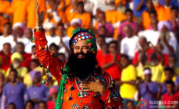 Gurmeet Ram Rahim Singh Ji Insan in a still from movie 'MSG: The Messenger'