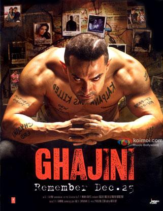 Aamir Khan in a 'Ghajini' movie poster