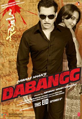 Salman Khan and Sonakshi Sinha in a 'Dabangg' movie poster