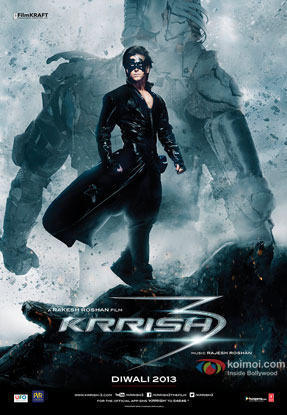 Hrithik Roshan in a 'Krrish 3' movie poster