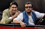 Sushant Singh Rajput and Dibakar Banerjee during the 2nd trailer launch of 'Detective Byomkesh Bakshy' Pic 3