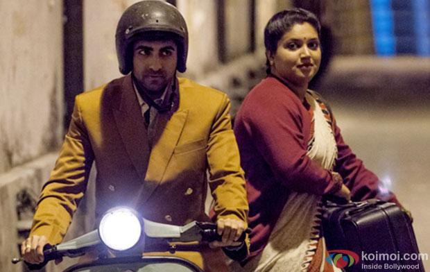 Ayushmann Khurrana and Bhumi Pednekar in a still from movie 'Dum Laga Ke Haisha'