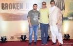 Aamir Khan, Vidhu Vinod Chopra and Amitabh Bachchan during the traier launch of 'Broken Horses' Pic 4