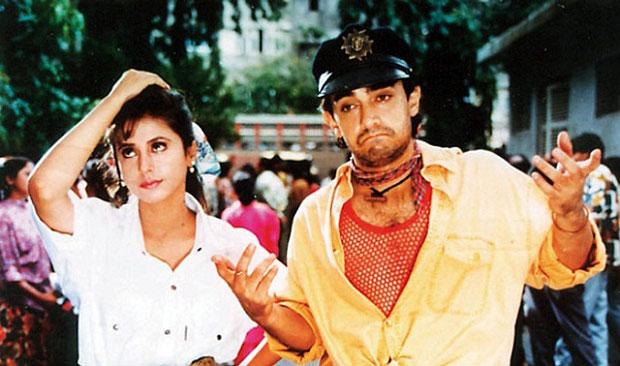Urmila Matondkar and Aamir Khan in a still from movie 'Rangeela (1995)'