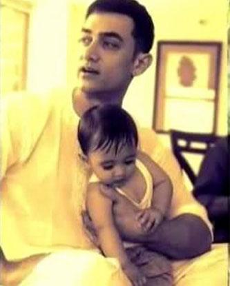 Aamir Khan with his son Azad Rao Khan