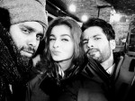 Bosco, Alia and Shahid on the sets of Shaandaar