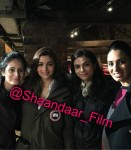 Alia Bhatt with fans on the sets of Shaandaar