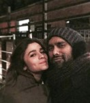 Alia Bhatt and Bosco on the sets of Shaandaar
