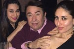 Randhir Kapoor With Karisma Kapoor and Kareena Kapoor