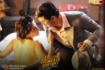 Swastika Mukherjee and Sushant Singh Rajput in Detective Byomkesh Bakshy Movie Stills Pic 1