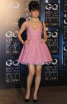 Kangana Ranaut in a short pastel pink baby doll dress