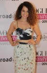Kangana Ranaut in a bralet crop top with sheer pencil skirt