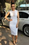 Kangana Ranaut in a white chic bodycon lace dress