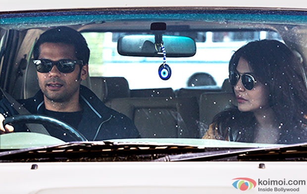 Neil Bhoopalam and Anushka Sharma in a still from movie 'NH10'