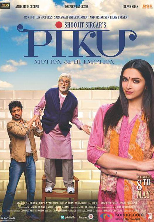 Amitabh Bachchan, Deepika Padukone and Irrfan Khan starrer Piku Movie Poster 1