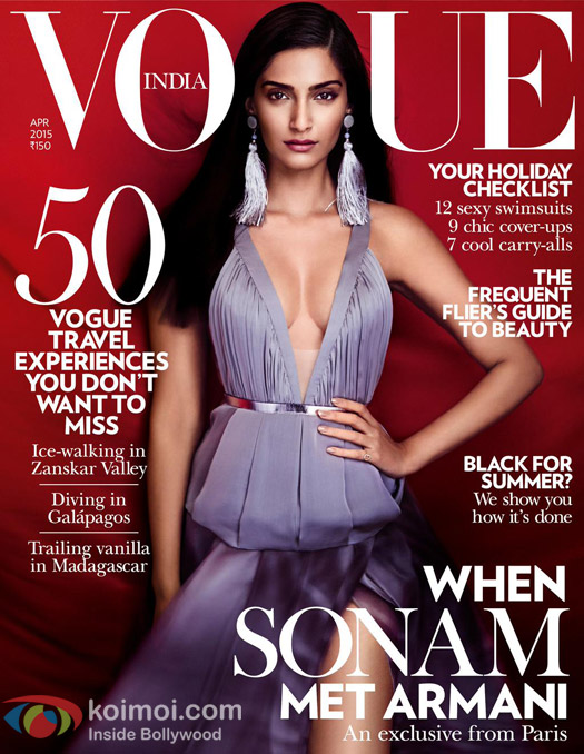 Sonam Kapoor on the Vogue Cover