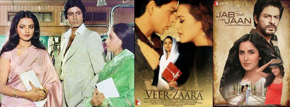 Kabhi Kabhie, Veer Zaara and Jab Tak Hai Jaan Movie Posters