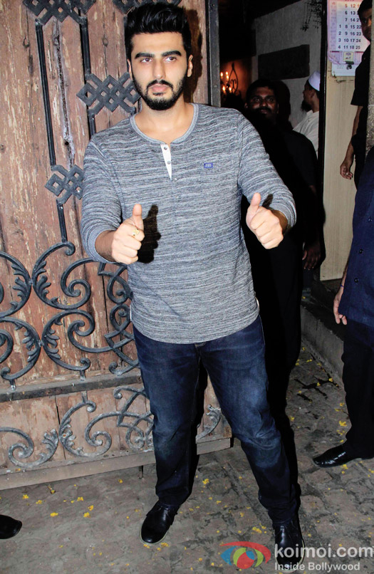 Arjun Kapoor during the Anil Kapoor hosted get together for A trailer Of Dil Dhadakne Do