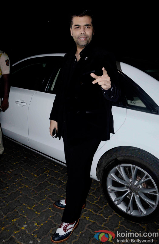 Karan Johar during the Anil Kapoor hosted get together for A trailer Of Dil Dhadakne Do