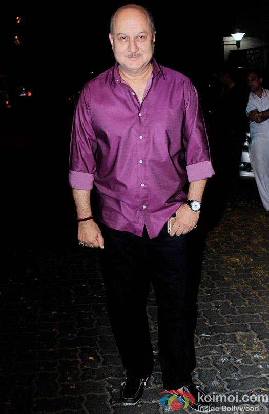 Anupam Kher during the Anil Kapoor hosted get together for A trailer Of Dil Dhadakne Do