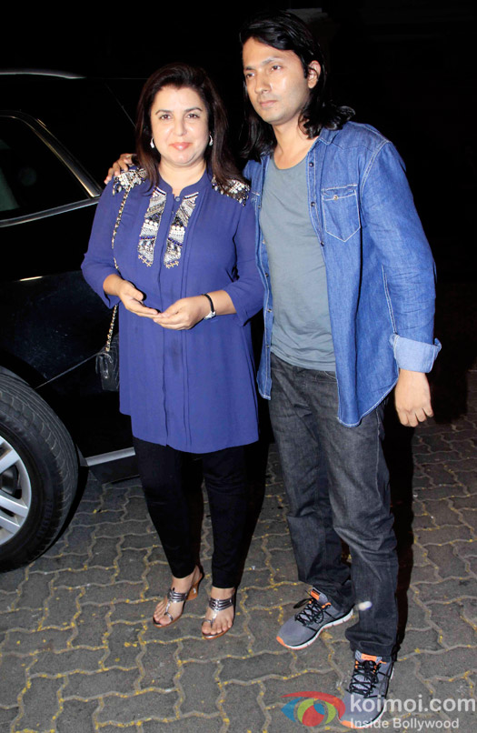 Farah Khan during the Anil Kapoor hosted get together for A trailer Of Dil Dhadakne Do