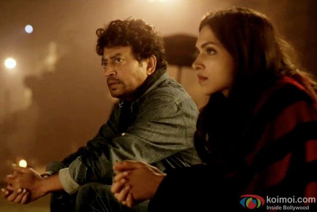 Irrfan Khan & Deepika Padukone in a still from movie 'Piku'