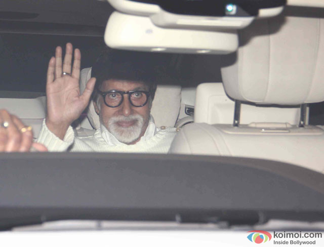 Amitabh Bachchan At Karan Johar's Bash