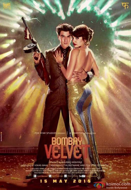 Ranbir Kapoor and Anushka Sharma in a 'Bombay Velvet' Movie Poster