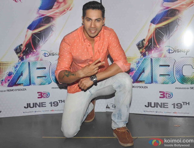 Varun Dhawan during the promotion of movie 'ABCD - Any Body Can Dance 2'