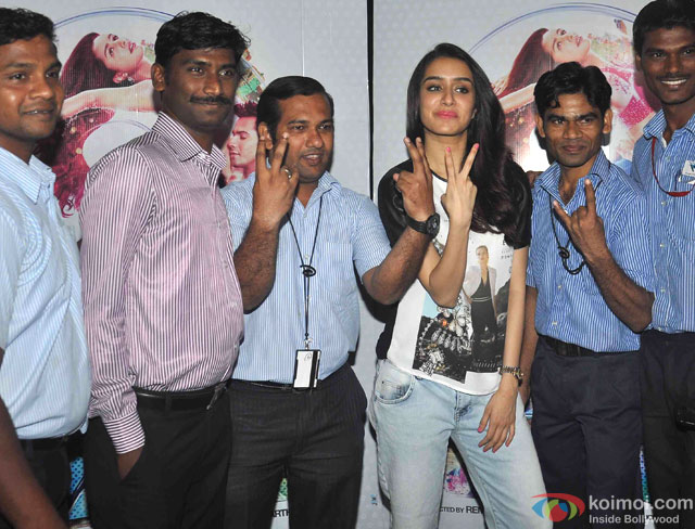 Shraddha Kapoor during the promotion of movie 'ABCD - Any Body Can Dance 2'