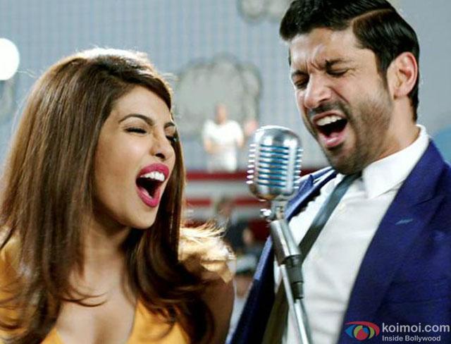 Priyanka Chopra and Farhan Akhtar in a 'Dil Dhadakne Do Title' Song still from movie 'Dil Dhadakne Do'