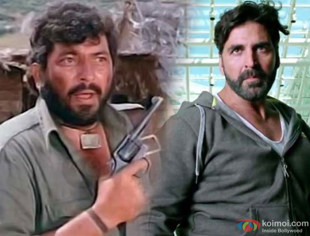 Amjad Khan and Akshay Kumar as a 'Gabbar'