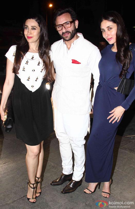 Karisma Kapoor, Saif Ali Khan and Kareena Kapoor Khan Celebrate Babita Kapoor's Birthday