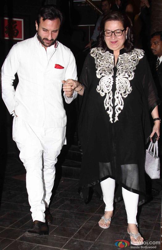 Saif Ali Khan Celebrate Babita Kapoor's Birthday