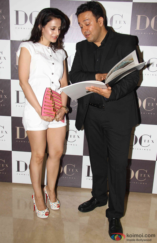 Ameesha Patel during the launch of Dicitex Furnishing Tie Up With Warner Bros