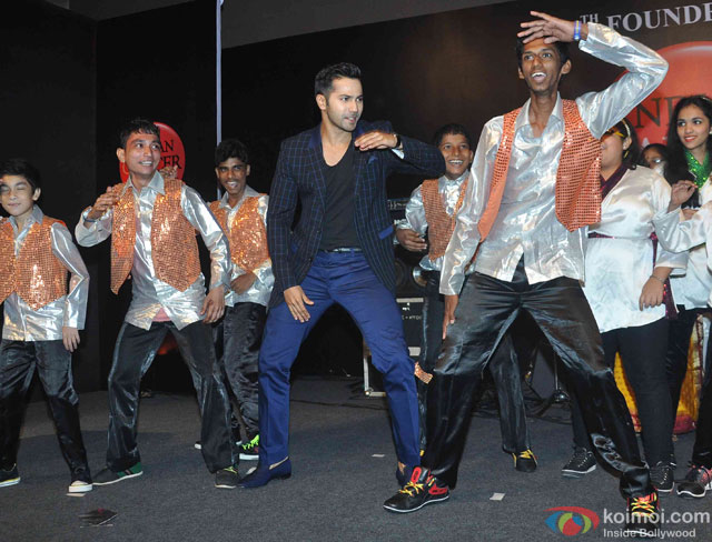 Varun Dhawan during launch of film on Anti-Tobacco at 64th Founder's Day