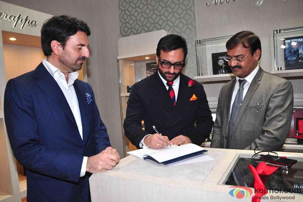 Saif Ali Khan during the launch of Montegrappa Italia Luxury Brand