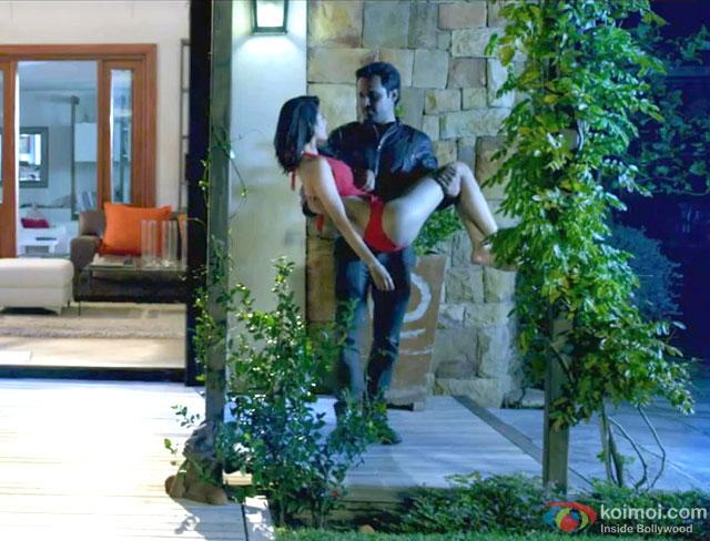 Amyra Dastur and Emraan Hashmi in a still from movie 'Mr. X'