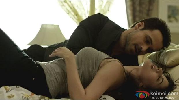 Emraan Hashmi and Amyra Dastur in a still from movie 'Mr. X'