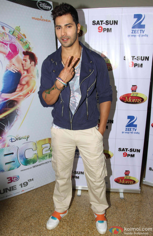 Varun Dhawan during the promotion of movie '(ABCD 2) – Any Body Can Dance 2' on the sets of Dance India Dance Super Moms 2