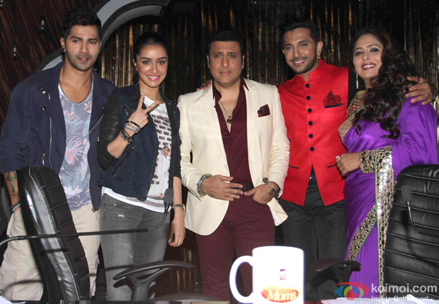 Varun Dhawan, Shraddha Kapoor and Govinda during the promotion of movie '(ABCD 2) – Any Body Can Dance 2' on the sets of Dance India Dance Super Moms 2