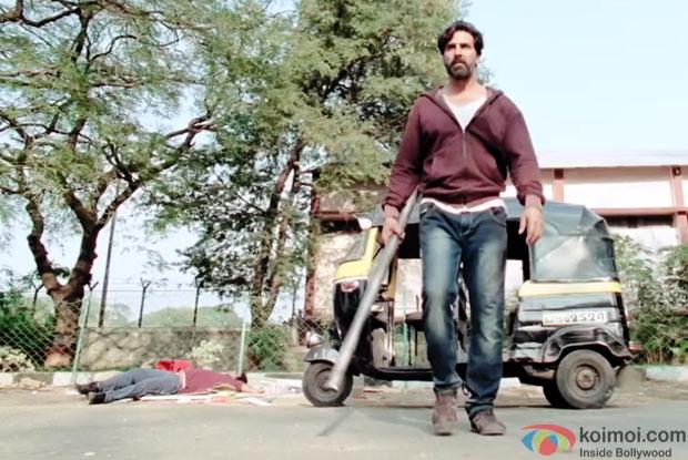 Akshay Kumar in a still from movie 'Gabbar Is Back'